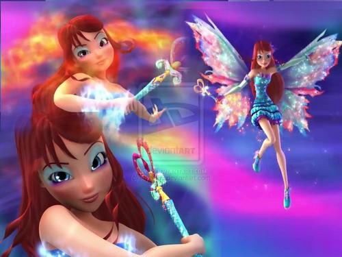 दा विंक्स क्लब वॉलपेपर probably containing ऐनीमे titled Bloom: 3D Mythix Transformation