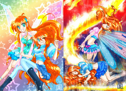 El Club Winx fondo de pantalla possibly with a fuente and anime titled Winx Bloom anime
