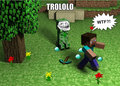 Trolling Creeper - the-minecraft-creeper fan art