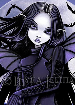 gothique purple vampire