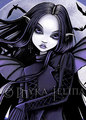 gothic purple vampire - vampires photo