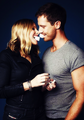 Jason Dohring and Kristen Bell, behind the scenes of the EW photoshoot