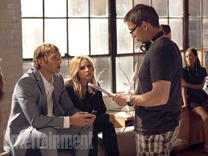 On the set of Veronica Mars movie