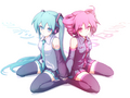 Miku VS Teto - vocaloids wallpaper