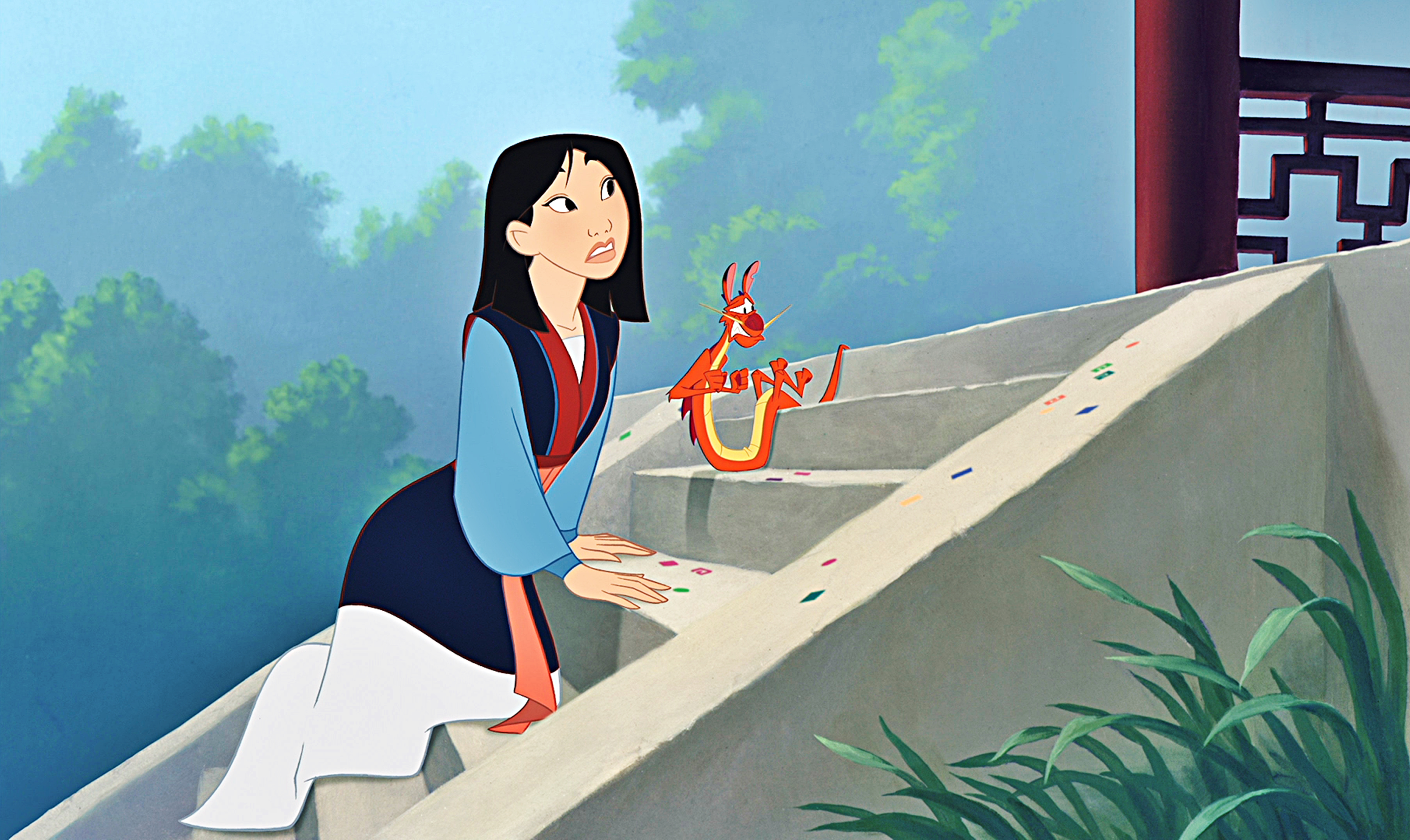 华特·迪士尼角色 images walt 迪士尼 screencaps - 花木兰 & mushu