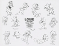 Walt Disney Sketches - Louie Duck - walt-disney-characters photo