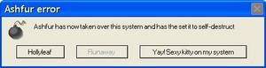 Ashfur error ( choose one )