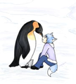 Dylan and a penguin - young-justice-ocs photo