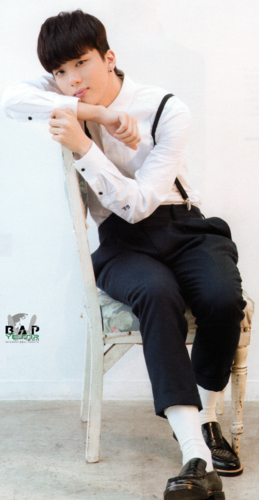 Youngjae wallpaper containing a business suit titled Youngjae for Hanako magazine