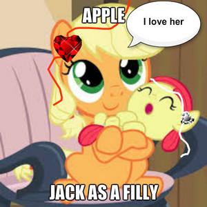 mela, apple jack and mela, apple bloom