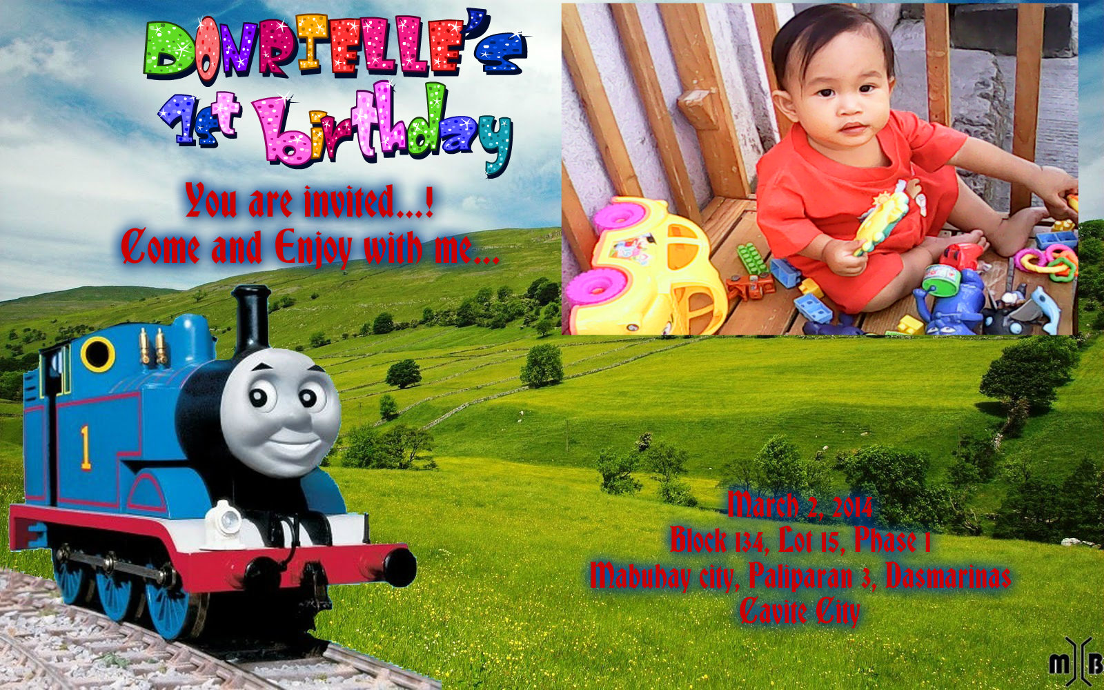 Donels birthday thomas and friends fan art 36630191 - Background thomas and friends ...