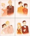 Ed and Winry, Ling and LanFan, Al and Mai, Roy and Riza