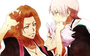 gin and Rangiku (and Toushiro)
