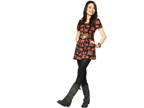 iCarly wolpeyper probably with hosiery, a hip boot, and a legging titled Carly