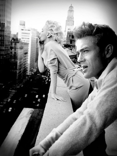 Marilyn Monroe wallpaper titled marilyn monroe and james dean