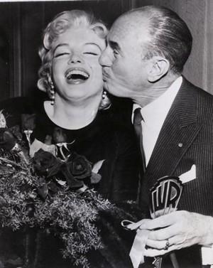 marilyn monroe with Jack Warner