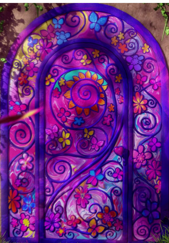 Filem Barbie kertas dinding probably with a stained glass window titled secret door