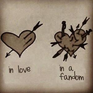 In cinta vs. in a fandom