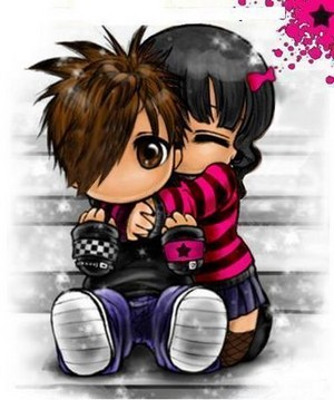 cute emo amor