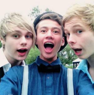 Mikey, Calum and Luke