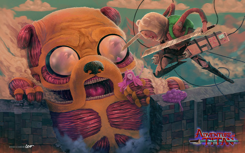 Adventure Time With Finn and Jake wallpaper titled AT Crossover