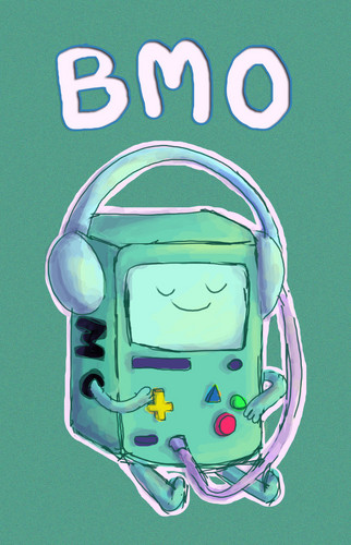 Adventure Time With Finn and Jake wolpeyper titled BMO chilling