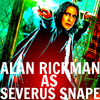 alan rickman foto with anime entitled Severus Snape