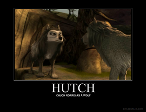 Hutch = Chuck Norris as a волк