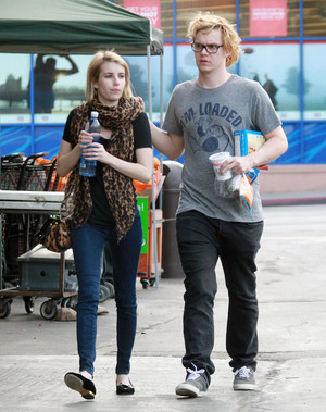 Emma Roberts and Evan Peters at the Hollywood market in West Hollywood, CA - March 9th, 2014