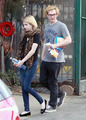 Emma Roberts and Evan Peters at the Hollywood market in West Hollywood, CA - March 9th, 2014 - american-horror-story photo