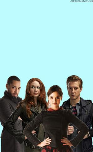 Danny, Amy, Clara and Rory
