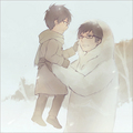 Yukio and little Rin - anime fan art