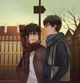 Rin and Yukio - anime fan art