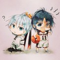 Kuroko and Hakuryuu - anime fan art