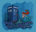 dr. who and ariel - ariel fan art