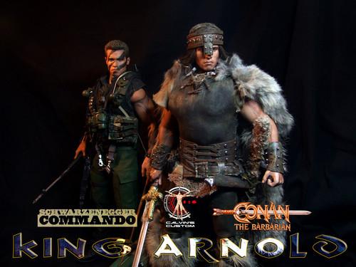 Arnold Schwarzenegger Hintergrund called Calvin's Custom one sixth scale Conan and Commando