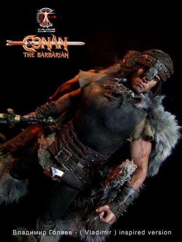 Arnold Schwarzenegger kertas dinding called Calvin's Custom one sixth scale Conan