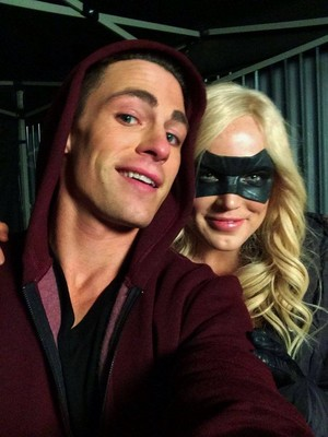 Colton Haynes and Caity Lotz