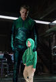 Oliver Queen/ Arrow with little Arrow