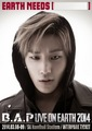 Jongup's 'B.A.P LIVE ON EARTH SEOUL 2014' poster - bap photo
