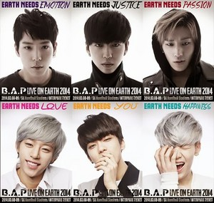 'B.A.P LIVE ON EARTH SEOUL 2014' poster