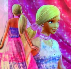 Barbie's berwarna merah muda, merah muda and Blue Outfit