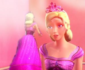 Barbie's roze erwt Princess japon, jurk