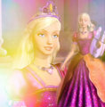 Liana's Orange and Pink Gown (Re-edited) - barbie-movies fan art