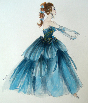 Blue barbie por a young artist