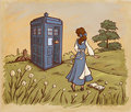 belle and dr. who - belle fan art