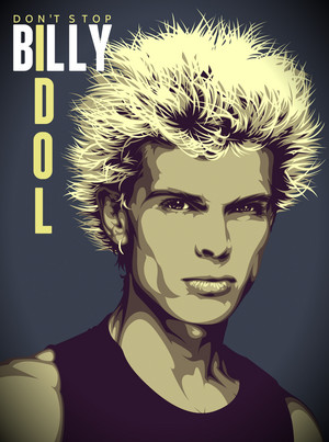 Billy Idol Don't Stop 1982 fanart