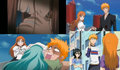 ichigo-and-orihime-collage - bleach-anime fan art