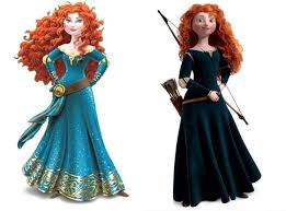 Merida in her two different styles