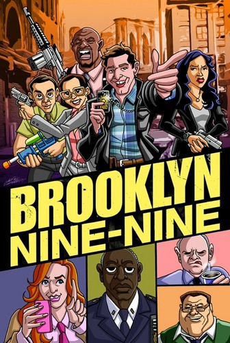 Brooklyn Nine-Nine karatasi la kupamba ukuta with anime titled Brooklyn nine-nine